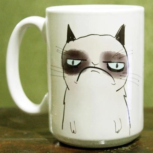 """Pissy Cat"" coffee mug"