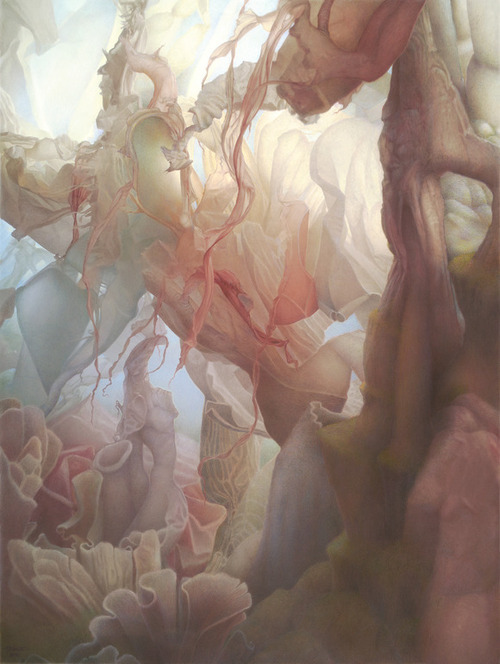 artchipel:  Art Venti - The Underside of Up. Colored pencils, 45x34 in [found at actegratuit]