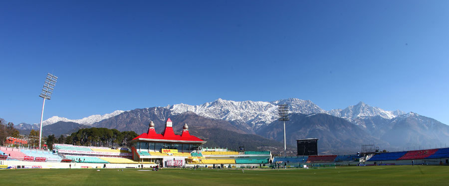 aussiecricket:  Panoramic view of the Himachal Pradesh Cricket Association Stadium (January 26, 2012). © BCCI  le sigh.