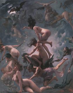 Witches Going to Their Sabbath (1878), by Luis Ricardo Falero.