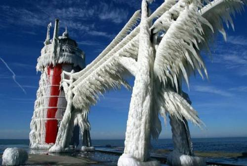 frozen lighthouse…