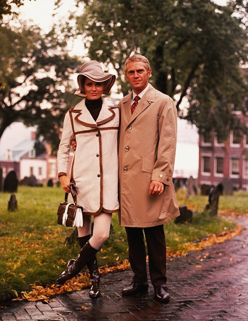"lottereinigerforever:  Faye Dunaway & Steve McQueen on the set of ""The Thomas Crown Affair"""