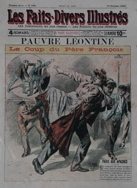 """Le coup du Pere Francois"" as practiced by the Parisian Apache or Hooligan. (HT Bartisu Society 