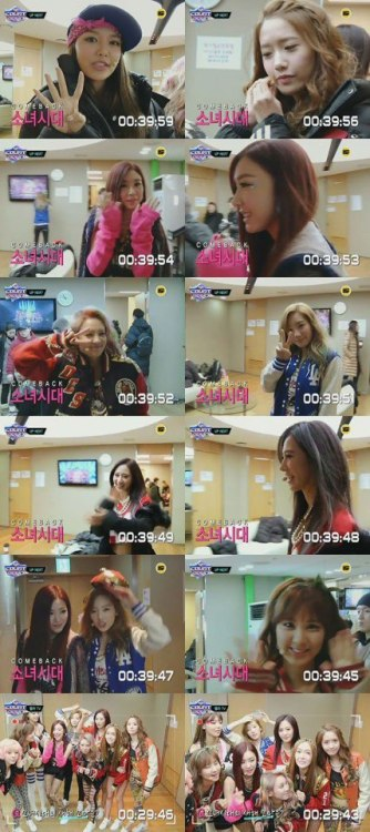 SNSD, Waiting Room Before Comeback Stage on 'M! Countdown'?!
