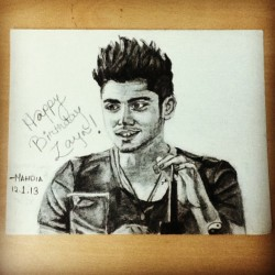 #happybirthdayzaynmalik :D it looks better in reality. @mia235 and @thatdirectionermomentwhen what do you guys think?