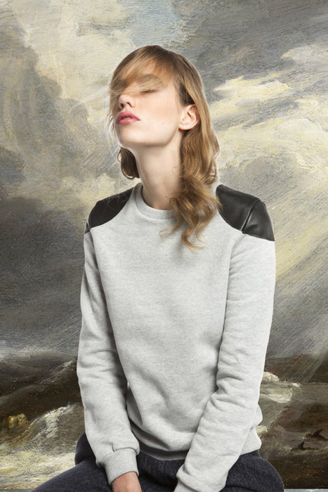 SHUN Leather Shoulders sweatshirt soon in shops and on www.omsk-belgium.com !!!