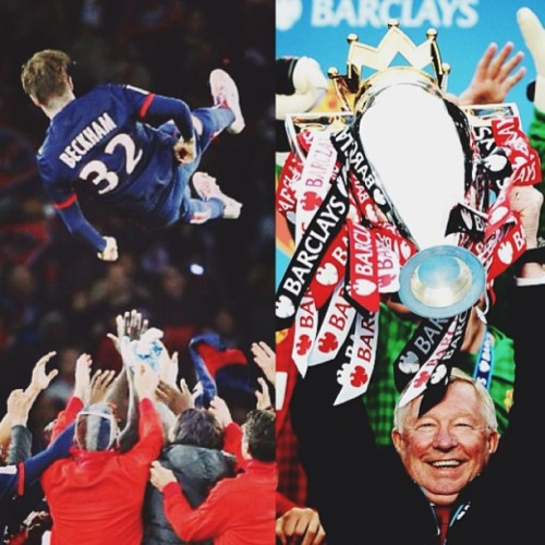 No one can change them!! #davidbeckham #siralexferguson #MU #PSG