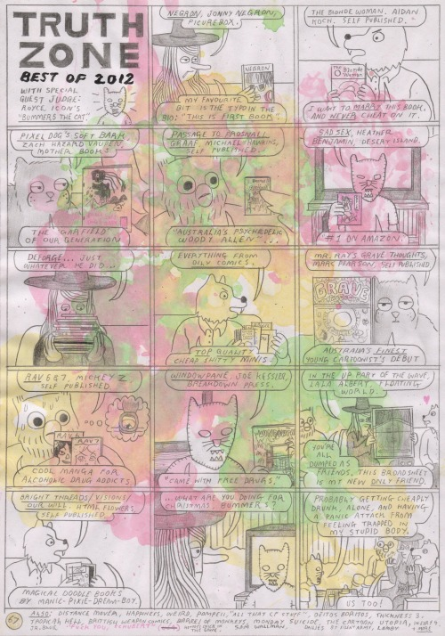 "comicsworkbook:  Simon Hanselmann ""Truth Zone 67"" Made for Comics Workbook"