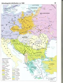 East Central Europe Ethnolinguistic distribution, ca. 1900, via reddit