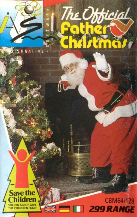 The OFFICIAL Father Christmas (1989) game for Commodore 64, Amstrad CPC, and ZX Spectrum by Alternative Software.
