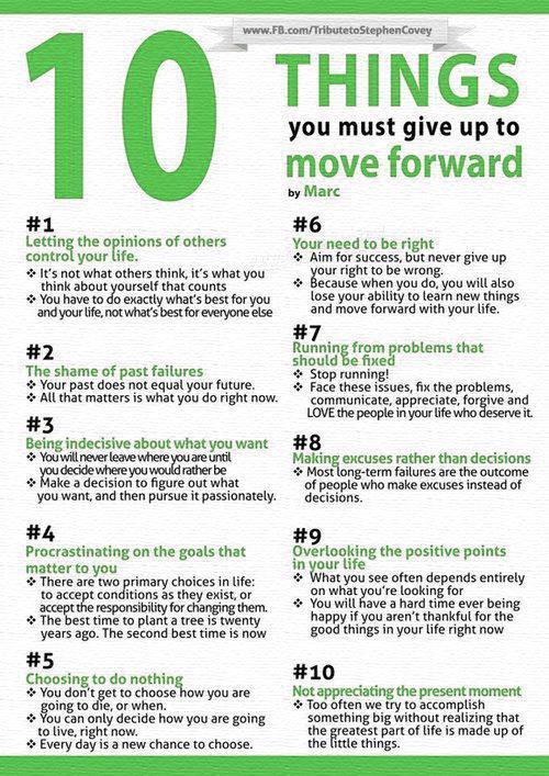 latinegro:  10 Things You Must Give Up to Move Forward