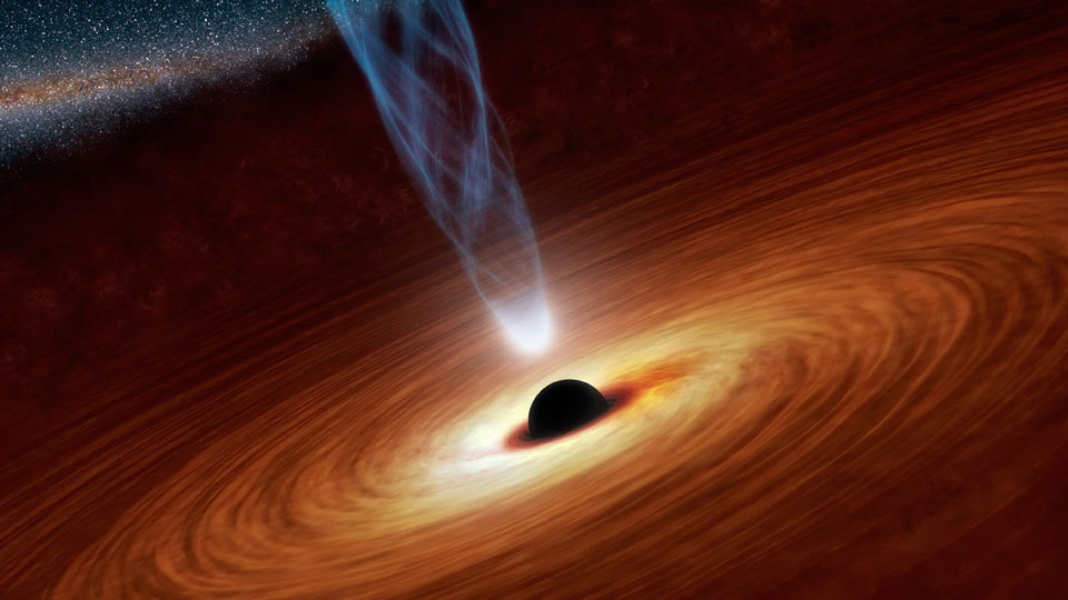Spin up of a Supermassive Black Hole Illustration Credit: Harvard-Smithsonian Center for Astrophysics