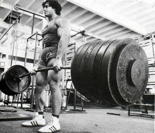bro-dyel:  Deadlift Friday. Franco Columbu doesn't mess around bro.