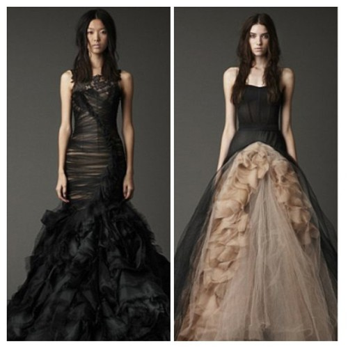 My future wedding dresses 😁I'm having a black wedding ❤ #VeraWang #Black #WeddingDress #Fashion
