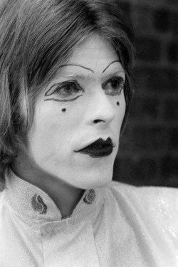 gasstation:  May 19 1968Dressed in a mime costume for a night out at the Middle Earth Club in Covent Garden, London.