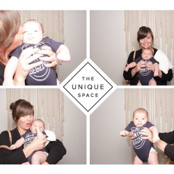 Tried out the new photo booth at work with #babyCal. Such a ham. @theuniquespace #babyselfie #imbrandnew