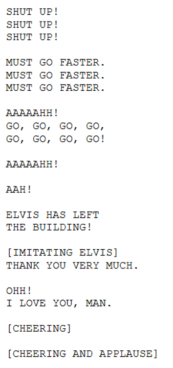 found-lit:  Selected Closed Captioning from the 1996 Movie Independence Day