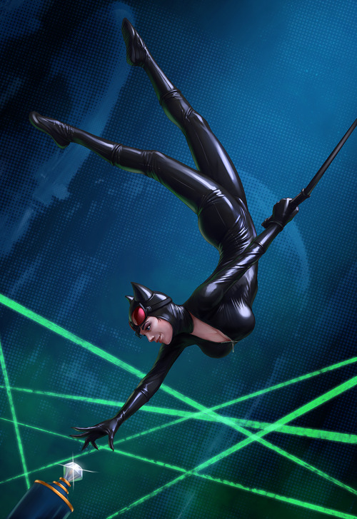youngjusticer:  Pssh, light work. Catwoman, by Dmitriy Grebenkov.