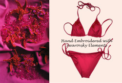 Swimwear couture, hand embroidered with Swarovsky Elements. Made in Italy only on www.ajraly.it
