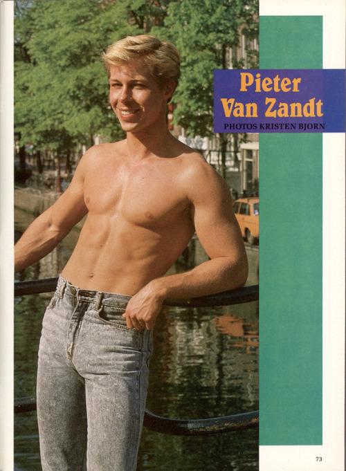 From ADVOCATE MEN (Jan 1988)photo by Kristen BjornModel is Pieter Van Zandt