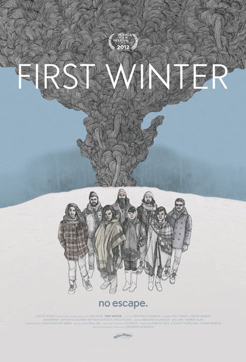 speakingparts:  FIRST WINTER [BEN DICKINSON 2012]  First Winter is exactly the kind of movie I'd make if I put the story-like ideas in my head on film. It's a slow, sex and yoga filled film about life and struggle on a commune. Mostly the colors are muted and have this ethereal quality about them. The colors that aren't so muted contrast beautifully against the whites, greys and browns. There's a scene where someone is making a salad. Upon watching it I was taken aback. It was just so beautiful, the chopping of the cabbage, the shredding of the keel and sprinkling of the nuts, all shot from overhead.