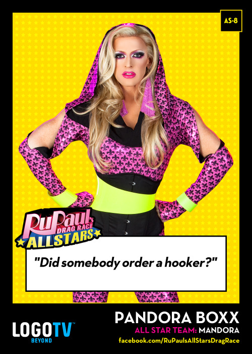 RuPaul's Drag Race TRADING CARD THURSDAY AS-8: Pandora Boxx!