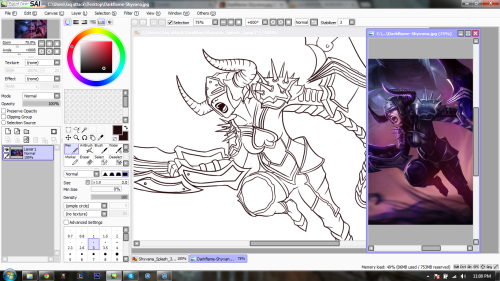 ask-ladyshyvana:  (( Preparing a Shyvana example drawing for a give away I'll have up soon. ))