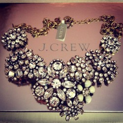 ladauphinestyle:  @jcrew Statement Necklace - Thank you Santa! #jcrew #christmas #gifts #bling #statementnecklace