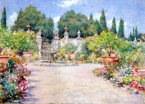 An Italian Garden 1909 on Flickr. William Merritt Chase Painter