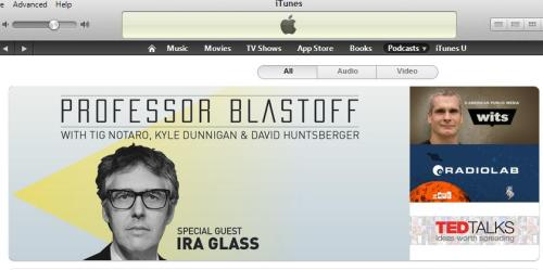 earwolf:  Check it out! Professor Blastoff's awesome Ira Glass episode getting some love from iTunes!  Finally getting around to listening this. Slacking!