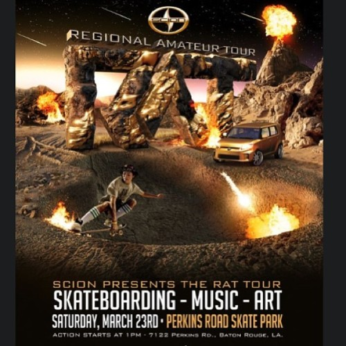 Lucas on this years Scion's RAT Tour ad.