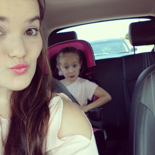 my sweet girl & i going to graduation! #love #pinkgirls #pinklips #happy #kisses