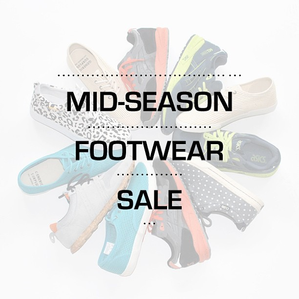 Mid season footwear sale now on #asics #clae #genericsurplus #donuts #bristol