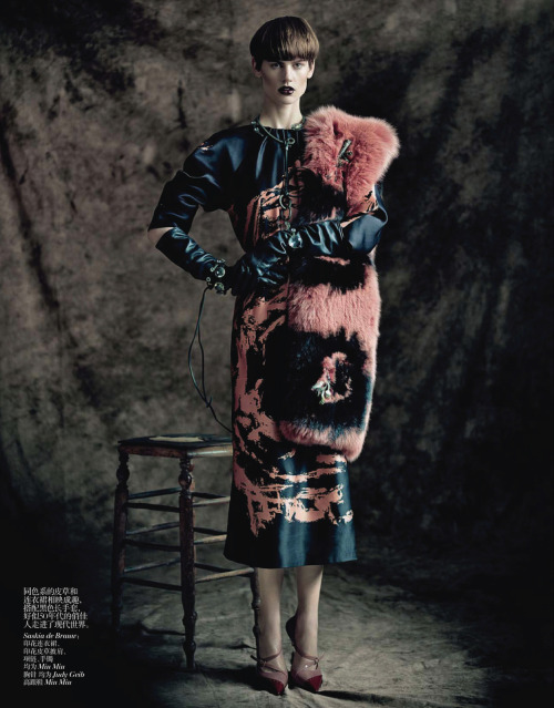 "myfavoritefashionthings:  ""the charm of diversity"" by paolo roversi for vogue china april 2013"