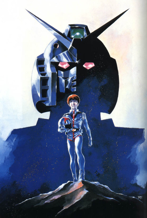 lunareticdawn:  Mobile Suit Gundam April 7th marks the 34th anniversary of the series that started it all, Mobile Suit Gundam. This is what we dedicated Gundam fans owe it all to. From the trope of our masked villain to the teenage pilots behind the controls of the mecha, this is what started it all. Mobile Suit Gundam was at it's time back in the late 70's, a departure from the norm of robot anime. The series before it were all about Giant robots that were full of glitz and flashy moves and explosions. But Tomino sought to change that with a more humanoid mecha and have the focus be on a gritty, realistic war from multiple perspectives. The series was remade into a compilation of movies in the early 80's and most currently, the release of Gundam Origin, which follow Tomino's original novelization that is far darker and grim than the original series was. The series did not prove to be popular during it's original airing and was actually cancelled prematurely, having it's run of 52 episodes cut down to only 43. Today it lives on as a very popular series and has become a part of the Japanese culture for decades to come.  Thanks for paving the way for all the series we have enjoyed over the years! 34 years ago today our obsession began… (and as a bonus, a second series has it's anniversary today too! so stay on the look out for another one popping up a bit later!)