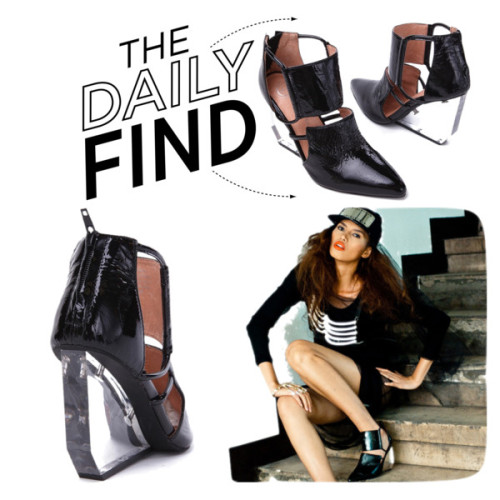 The Daily Find: Jeffrey Campbell Devandra por polyvore-editorial usando clear shoes ❤ liked on PolyvoreJeffrey Campbell clear shoes / Jeffrey Campbell clear shoes