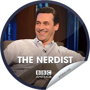 I just unlocked the The Nerdist: Jon Hamm & Betsy Brandt sticker on GetGlue                      1640 others have also unlocked the The Nerdist: Jon Hamm & Betsy Brandt sticker on GetGlue.com                  You're watching an all new episode of The Nerdist, presented by Supernatural Saturday, only on BBC America. Tonight, Chris Hardwick welcomes heartthrob Jon Hamm from Mad Men, and the very talented Betsy Brandt from Breaking Bad. Plus,Matt and Jonah attempt to write a mash-up script of both shows and enlist a little surprise help from Mad Men's Rich Sommer (AKA Harry Crane). And Doctor Who alum Arthur Darvill joins the fun.  Share this one proudly. It's from our friends at BBC America.
