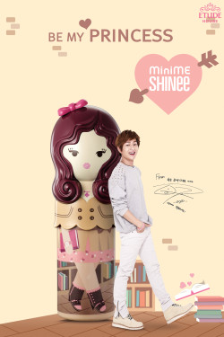 "130426 SHINee - Etude ""Mini Me, Be My Princess"" Fragrance  shachannightroad: Dammit Onew just marry me already."