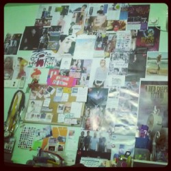 Started with a vision board which ended up like this thanks to my OCD.