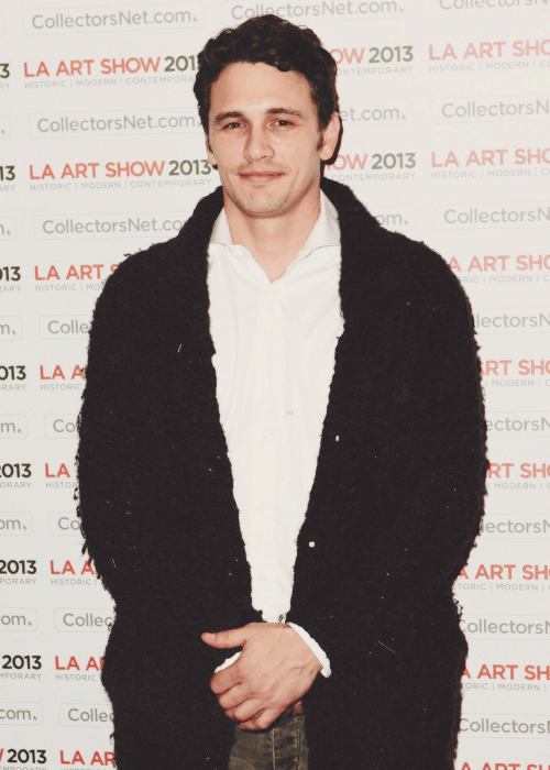 James Franco attends The LA Art Show Opening on January 23rd, 2013.