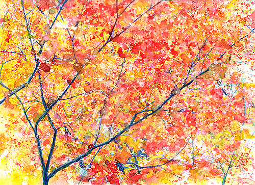 Fall Blossoms by The Watercolor Guy on Flickr.