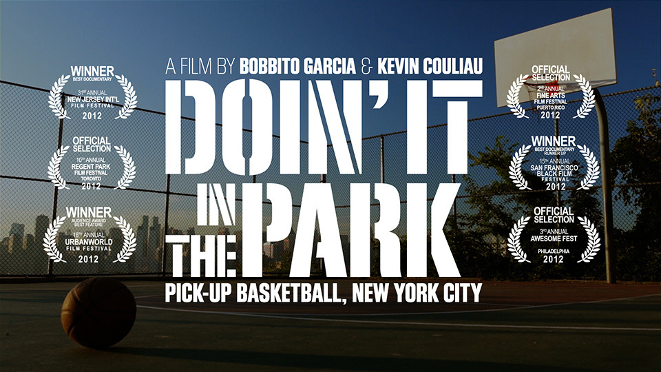 DOIN' IT IN THE PARK brings you to center court of the NYC street basketball scene - a long tradition of neighborhood parks, music, smack talk, big dunks, and good old-fashioned camaraderie.  If New York City is the Mecca of pick-up ball, this doc is your perfect cultural guide. You can now buy DOIN' IT IN THE PARK directly from the filmmakers.