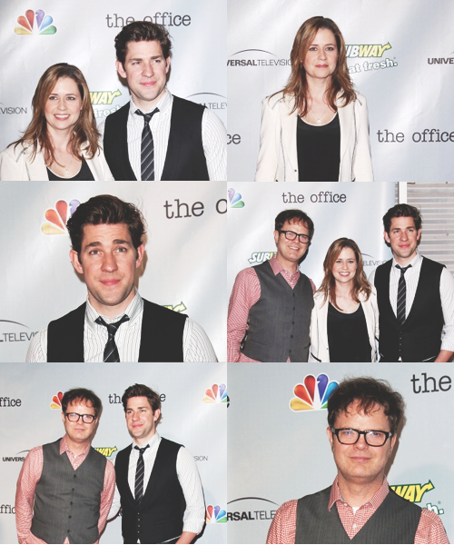 temperanceinthebrennan:  The Office Wrap Party - Jenna, John, Rainn