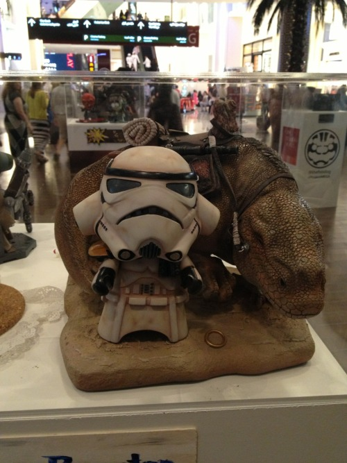 Stormtrooper art at the Middle East Film & Comic Con in Dubai.