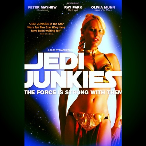 Who needs #StarWarsVII when there is: #JediJunkies #TheForceIsStrongWithThem #PeterMayhew #OliviaMunn #RayPark  From #Docurama! #StarWars isn't just a series of films. It's an indelible part of the last thirty years of American culture, going far beyond mere entertainment. For some, its become a way of life. Join us as we profile a unique group of individuals whose love of Star Wars goes well beyond mere movie fan. The #Jedi Junkies is a fun, affectionate and funny look at a series of people whose personal and professional lives were changed forever by this incredible franchise.