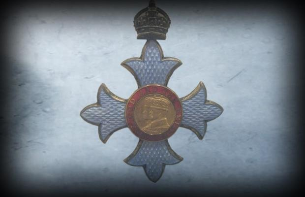 Kate Bush's official Commander of the British Empire (CBE) medal she received today at Windsor Castle in England from HM Queen Elizabeth II.