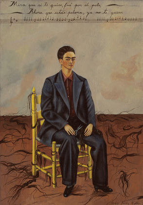 Frida KahloSelf-Portrait with Cropped Hair1940oil on canvas