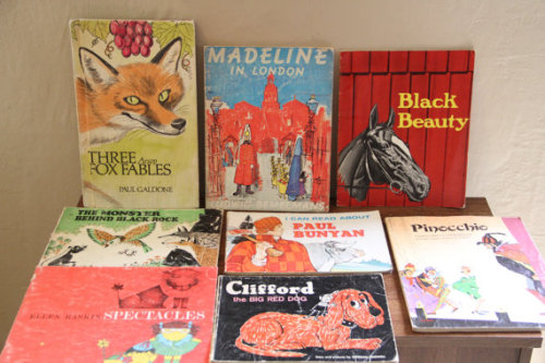 Lot of 8 Vintage Children's Books - Get it at TheBlackVinyl.Etsy.com