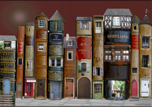 pixiedustparcels:  Imaginary places, or, the village of books.