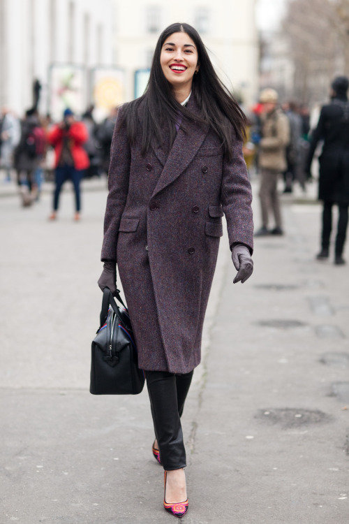 Caroline Issa @CaroIssa after Kris Van Assche FW13 at Palais de Tokyo Sure you know she's one of my favorites to shoot - try not to both her too much as I would just photograph her every time I see her, but when I do ask, she always flashes a smile! : )